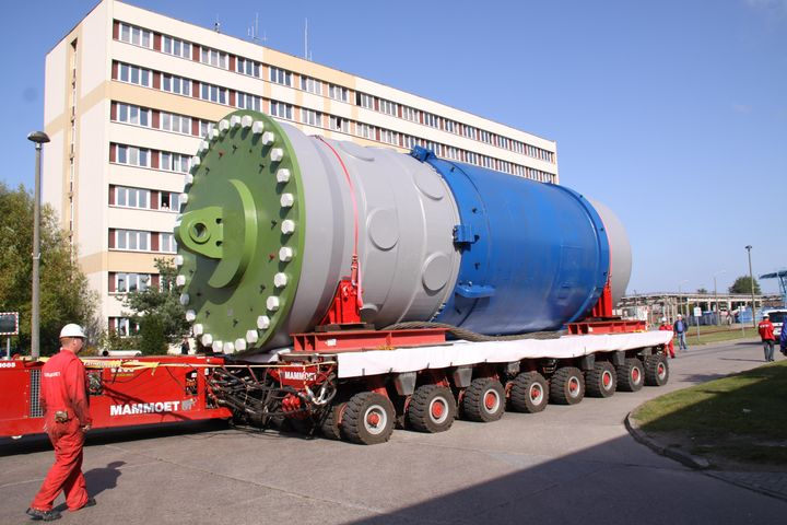 Transport reactor pressure vessel Unit 3 in the ISN